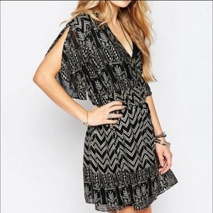 Free People XS Love Your Chaos foil dress